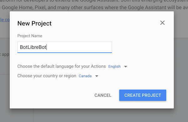 How to create a bot for Google Home and Google Assistant